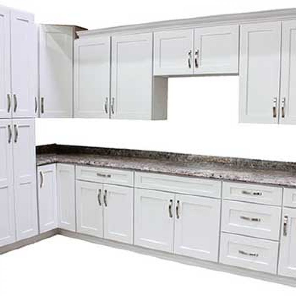 Kitchen Cabinets by Builders Surplus - wholesale kitchen and Bath Supply serving Portland OR  sc 1 st  Builders Surplus & Arctic White Kitchen Cabinets - Builders Surplus - Wholesale Kitchen ...