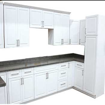 Classic white kitchen cabinets builders surplus for White classic kitchen cabinets