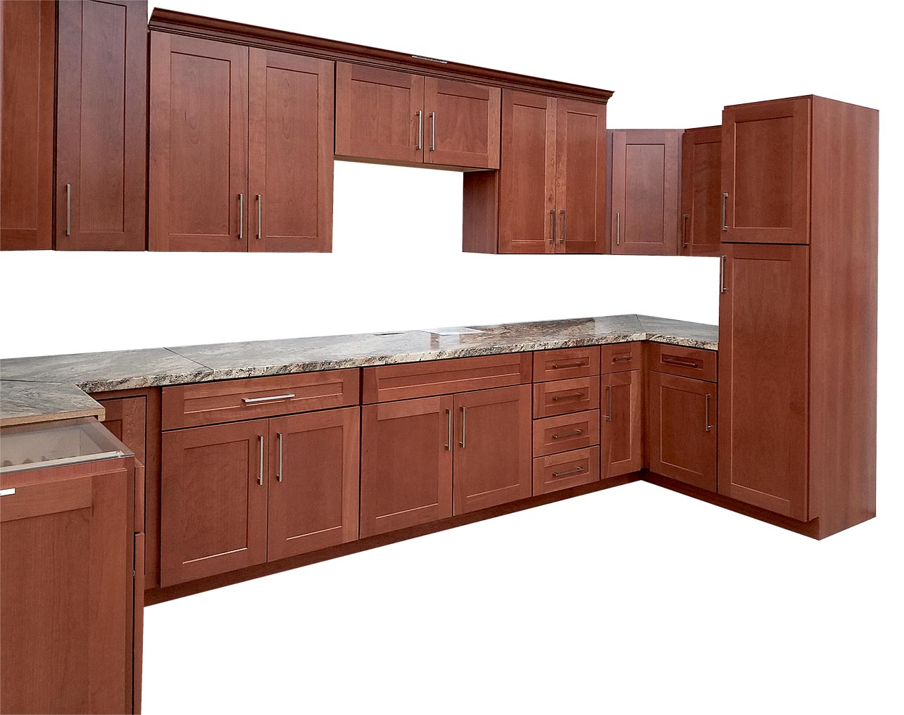 Cherry Shaker Cabinets Builders Surplus Kitchen Bath Cabinets