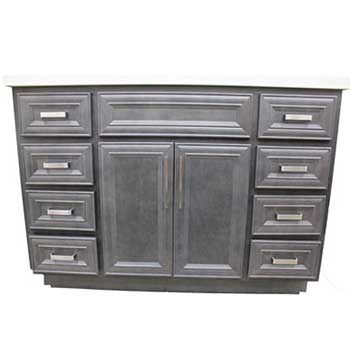 Vanderburg slate vanity builders surplus wholesale - Bathroom cabinets builders warehouse ...