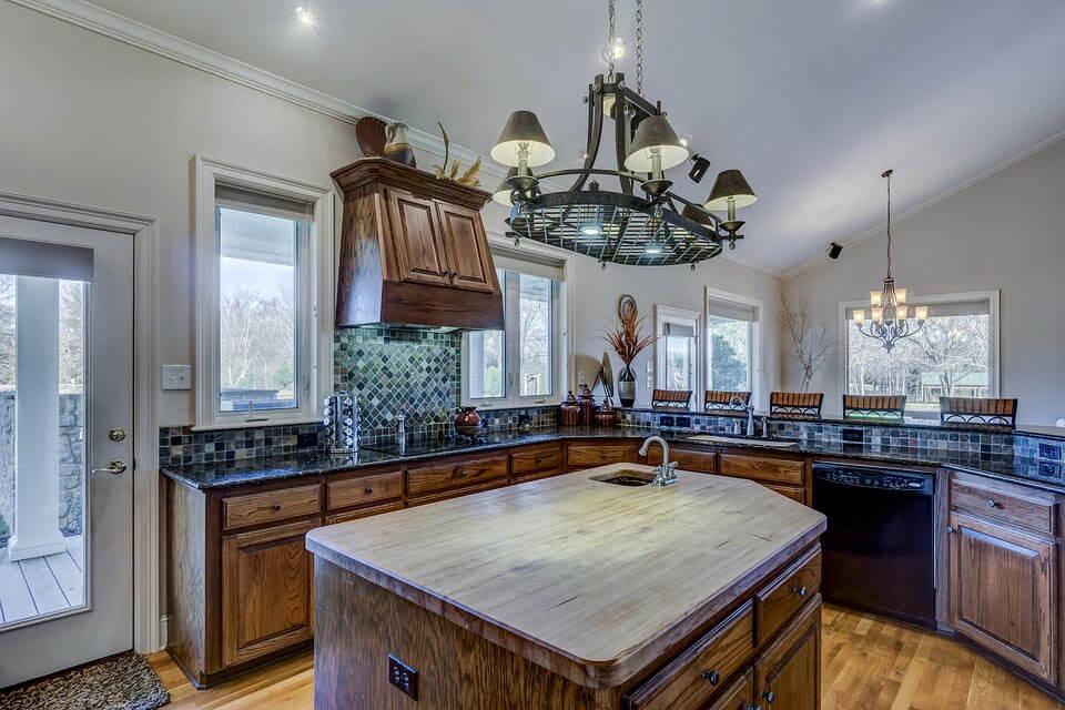 kitchen island view